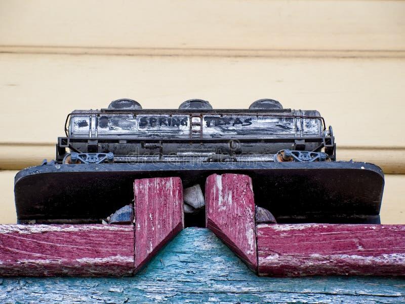 Linia kolejowa tankowa samochód zdjęcia stock