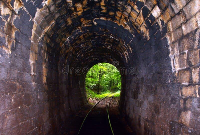 Linia kolejowa tunel obraz royalty free