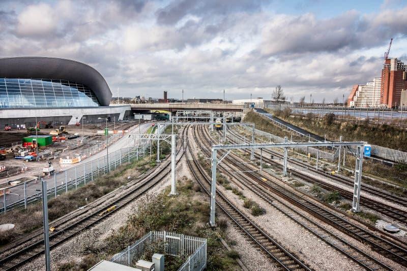 Linia kolejowa w stradford Londyn fotografia royalty free