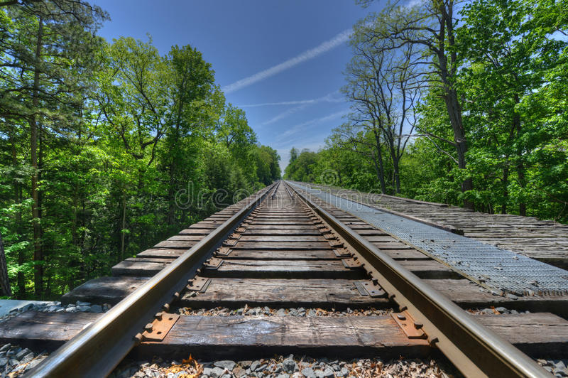Linia kolejowa, Watkins roztoki most zdjęcia stock