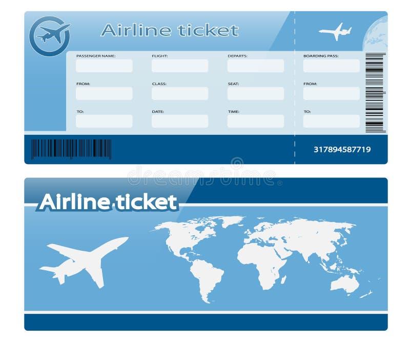 Linia lotnicza bilet ilustracji
