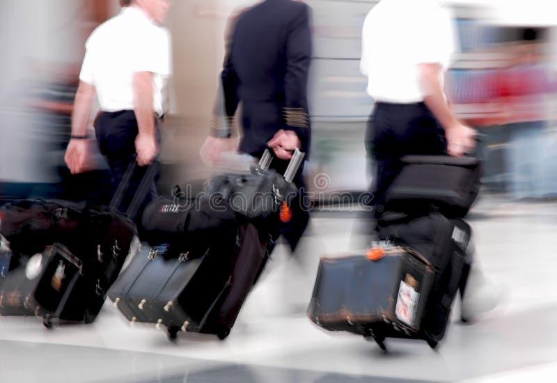 linia lotnicza przepływu piloci obrazy stock
