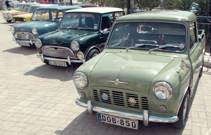 Linia Mini samochody zdjęcia stock