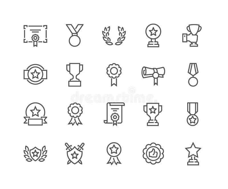 Linia Nagradza ikony ilustracja wektor