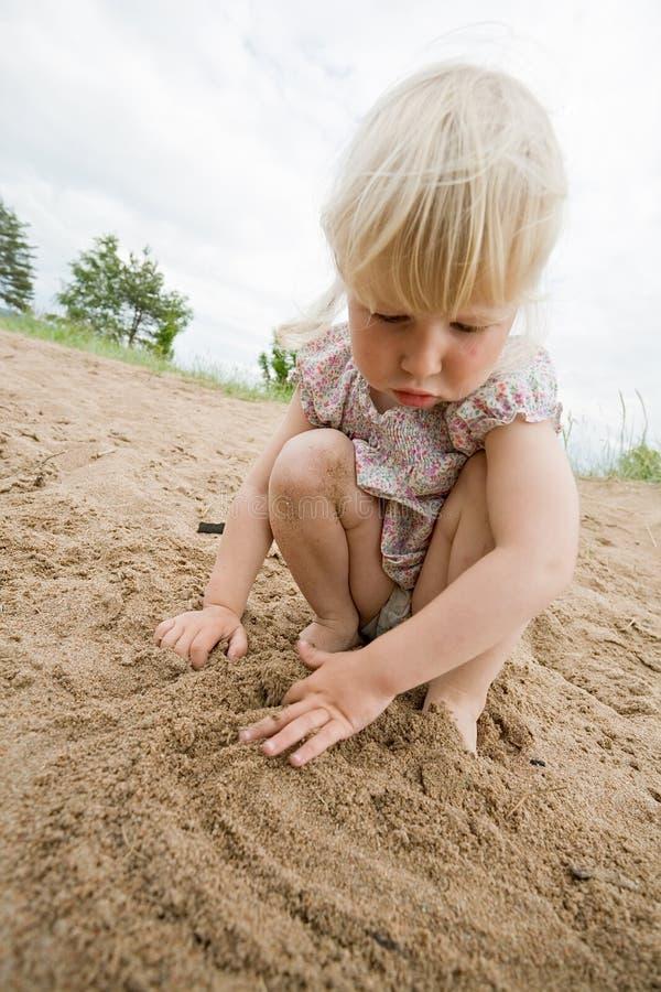 linia piasku zdjęcie royalty free