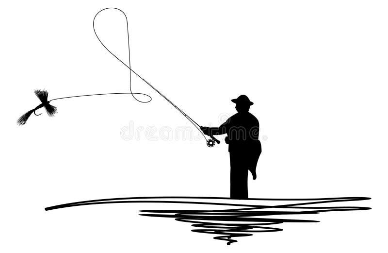 linia rzucony człowieku ilustracji