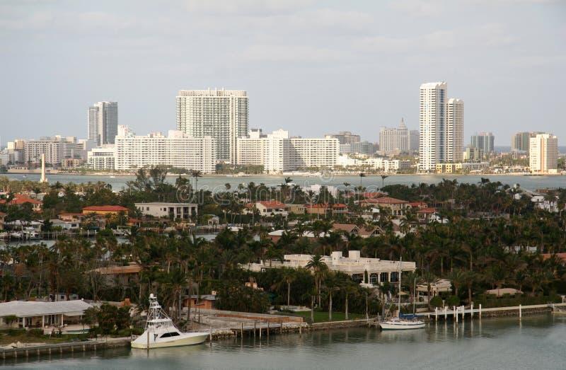 linia wybrzeże Miami zdjęcie stock