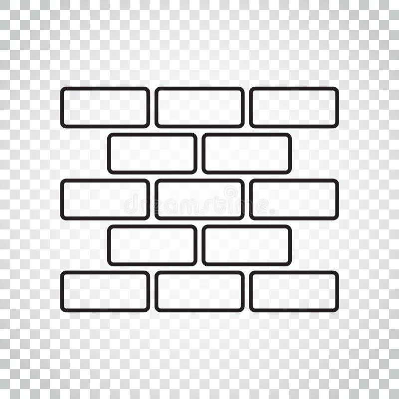 Download Linie Artwandziegelsteinikone In Der Flachen Art Auf Lokalisiertem Hintergrund Vektor Abbildung - Illustration von haus, zeichen: 96935779