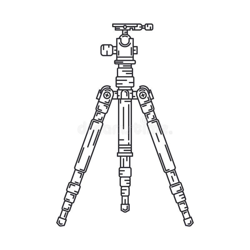 Linie Berufsausrüstung des flachen Fotografen der Vektorikone digitalen Fotografiekunst Fotoapparatvorgußvertrag vektor abbildung