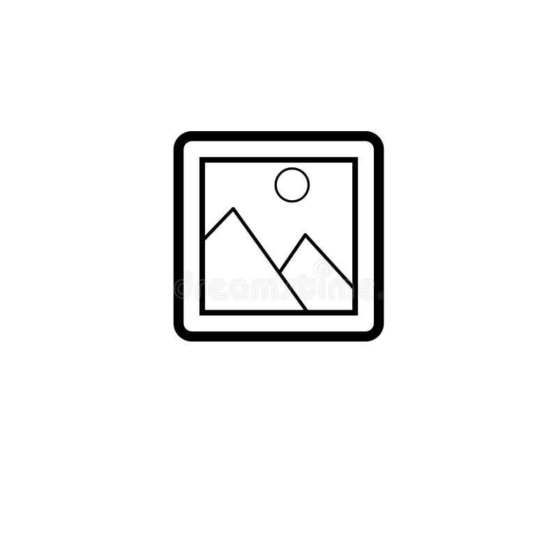 Linie Bild oder Bild-quadratische Ikone lizenzfreie abbildung