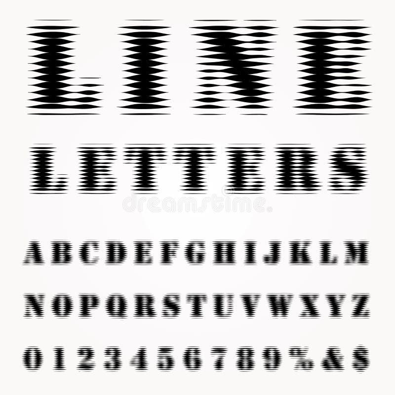 Linie Buchstaben vektor abbildung