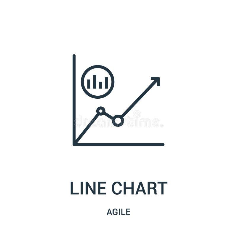 Linie Diagrammikonenvektor von der beweglichen Sammlung D?nne Linie Linie Diagrammentwurfsikonen-Vektorillustration stock abbildung