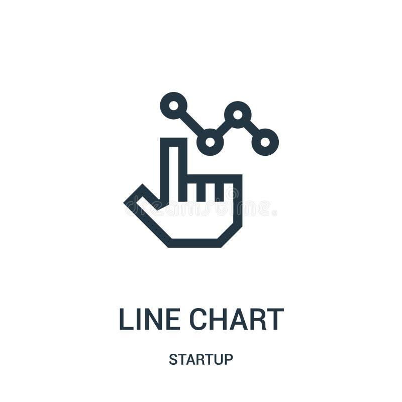 Linie Diagrammikonenvektor von der Startsammlung Dünne Linie Linie Diagrammentwurfsikonen-Vektorillustration stock abbildung