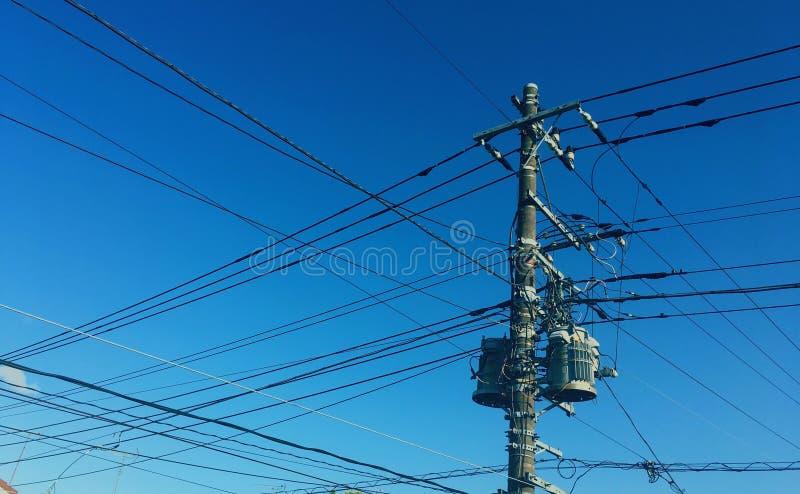 linie elektryczne zdjęcie royalty free