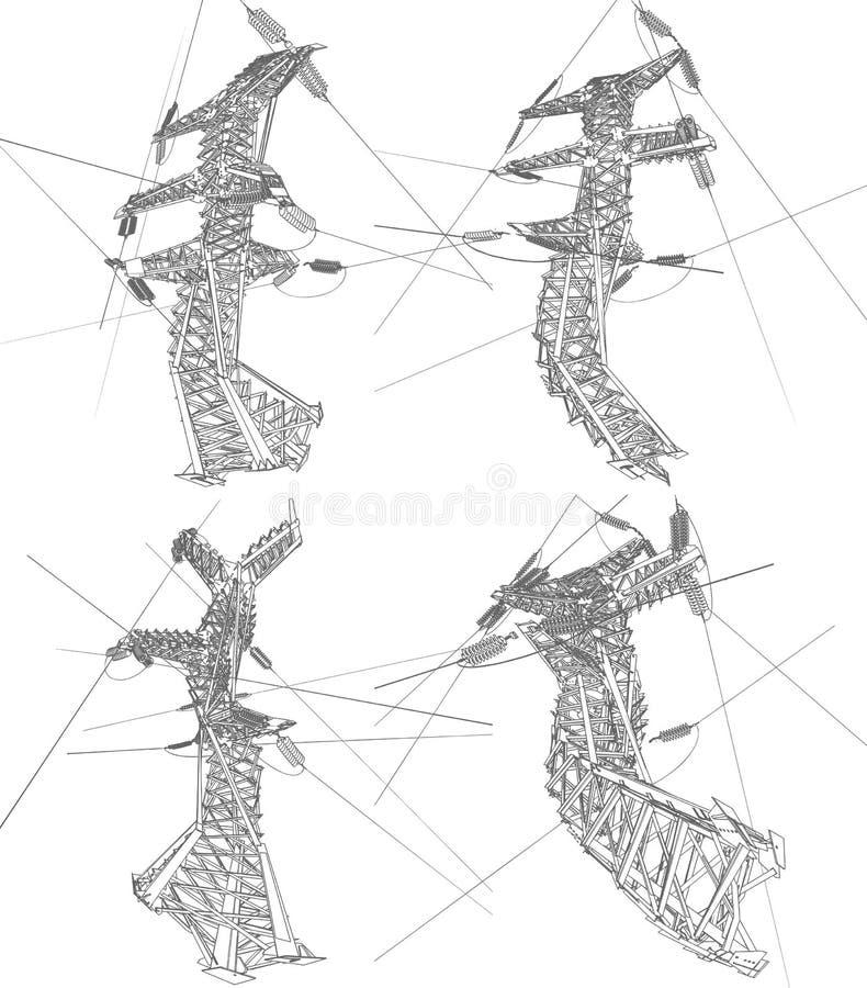 Linie energetyczne ilustracja wektor