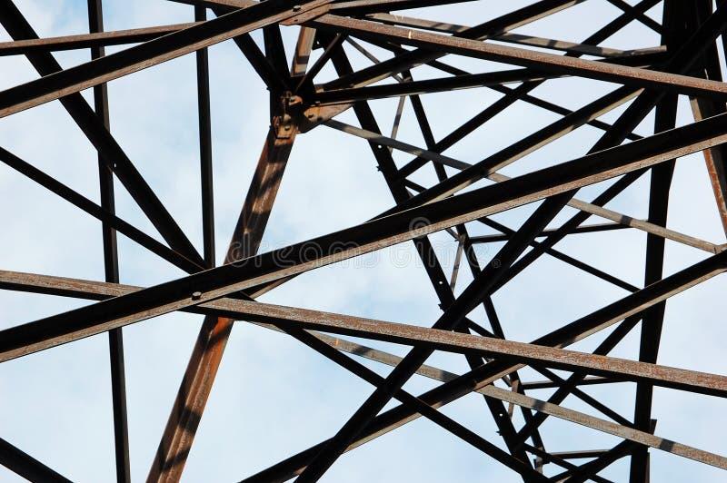 Linie energetyczne pilon, szczegół zdjęcie royalty free