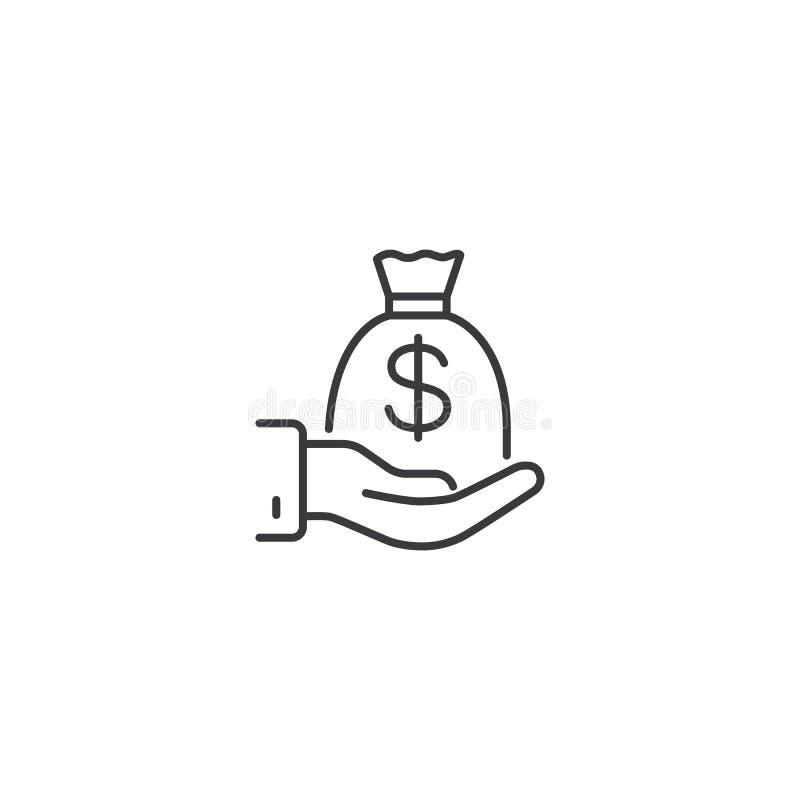Linie Finanzierungsikone auf weißem Hintergrund lizenzfreie abbildung