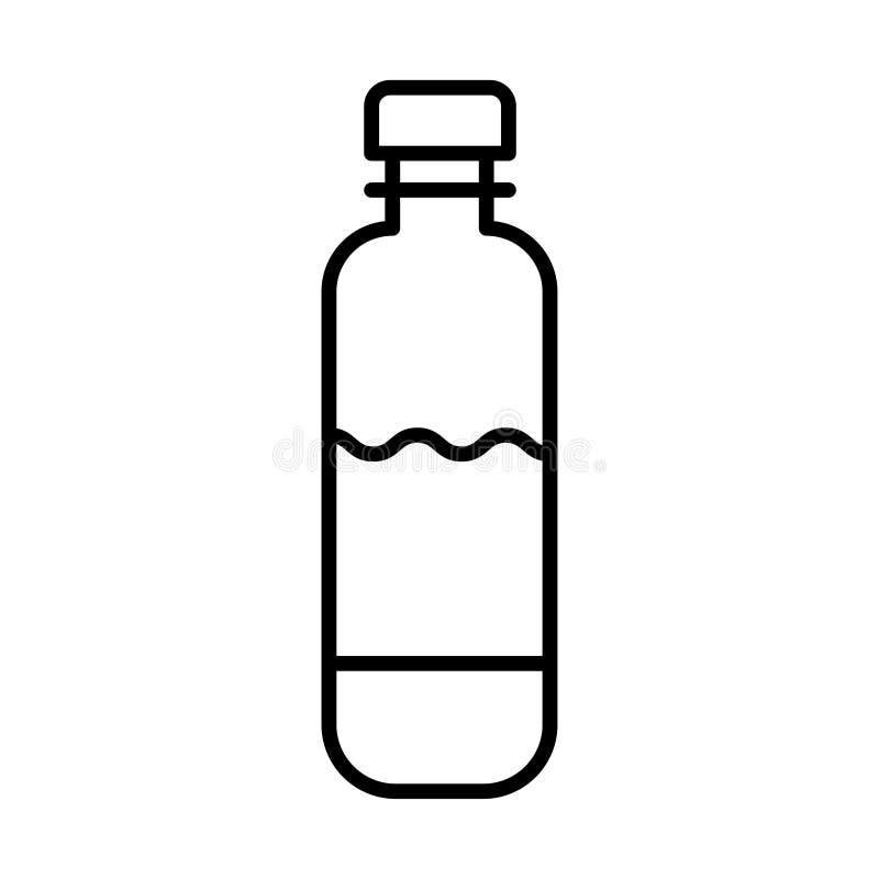 Linie Flasche Ikone Flaschenikone im modischen flachen Entwurf lizenzfreie abbildung