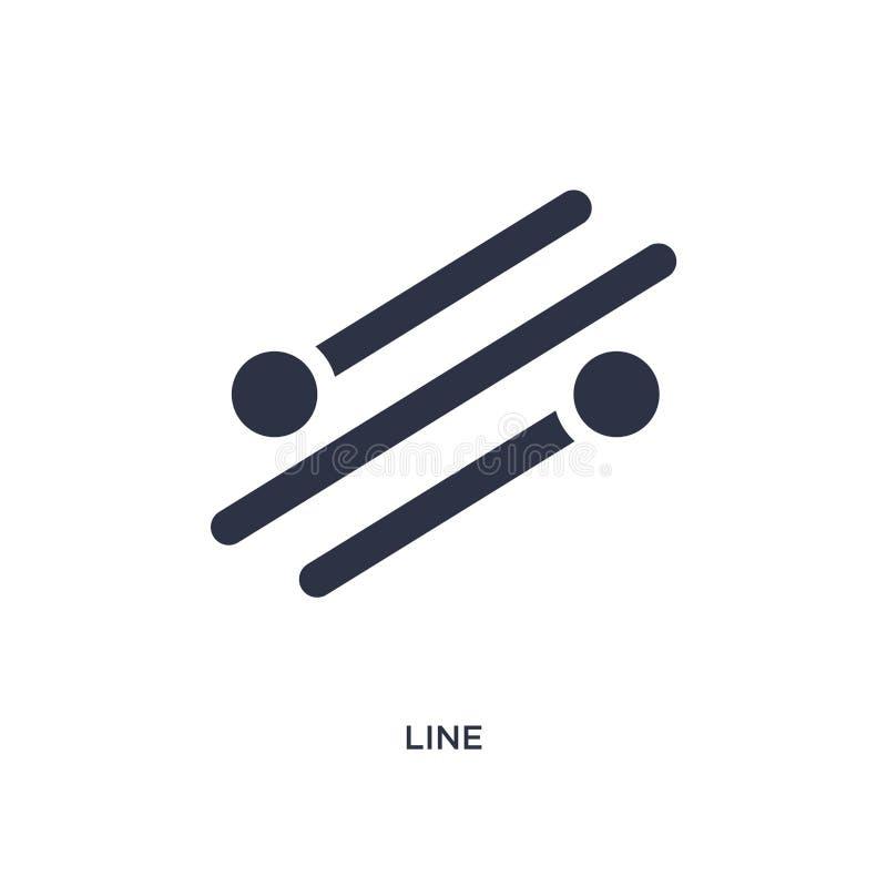 Linie Ikone auf weißem Hintergrund Einfache Elementillustration vom Geometriekonzept lizenzfreie abbildung