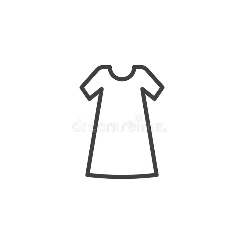 Linie Ikone der legeren Kleidung vektor abbildung