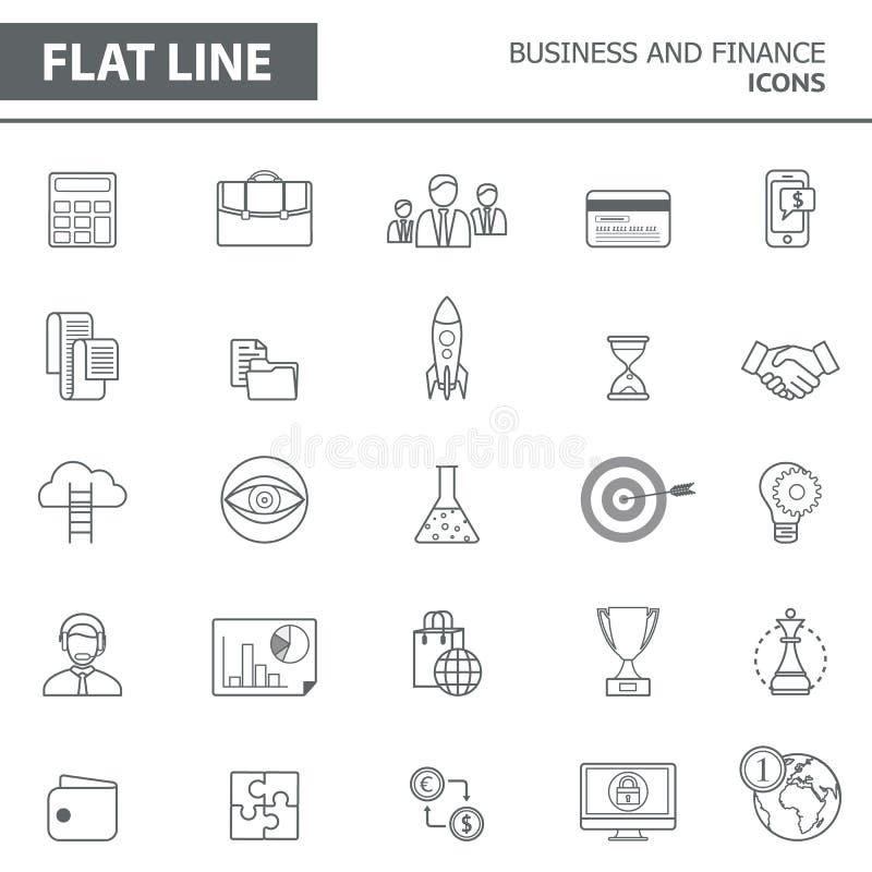 Linie Ikonen stock abbildung