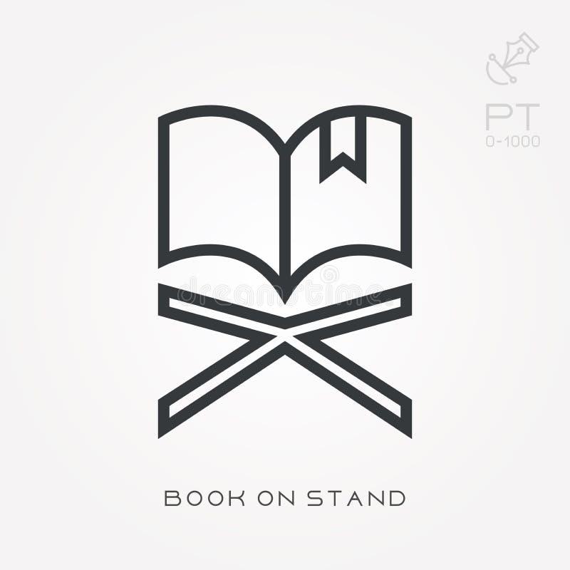 Linie Ikonenbuch auf Stand lizenzfreie abbildung