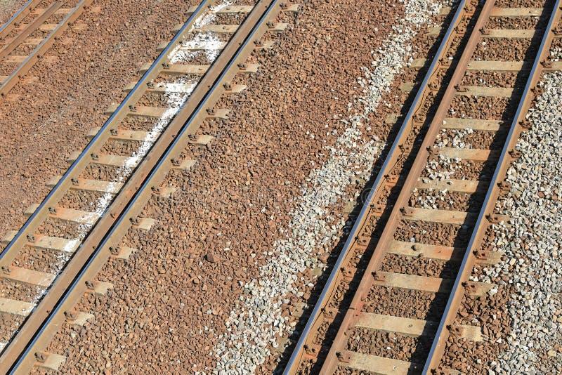 Linie kolejowe od above zdjęcia royalty free