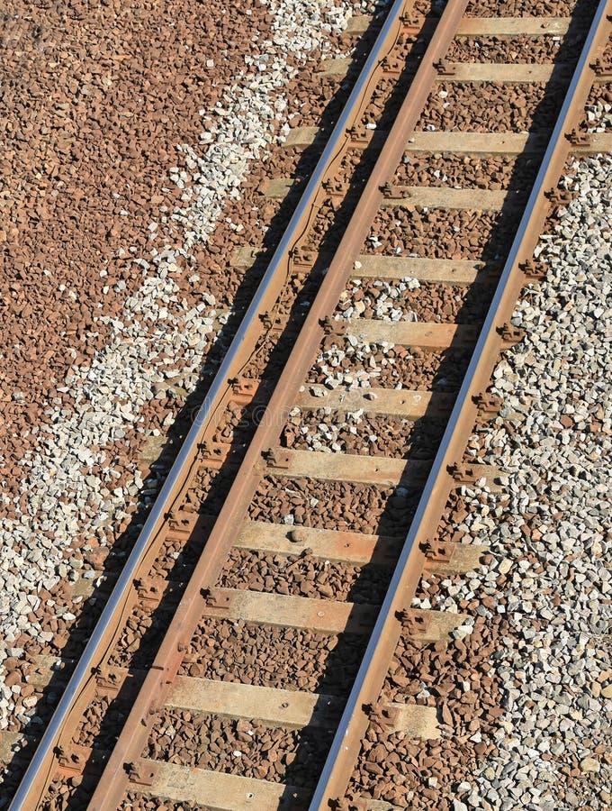 Linie kolejowe od above obrazy royalty free