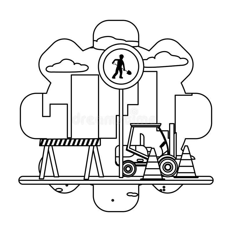 gabelstapler stock illustrationen vektors  klipart