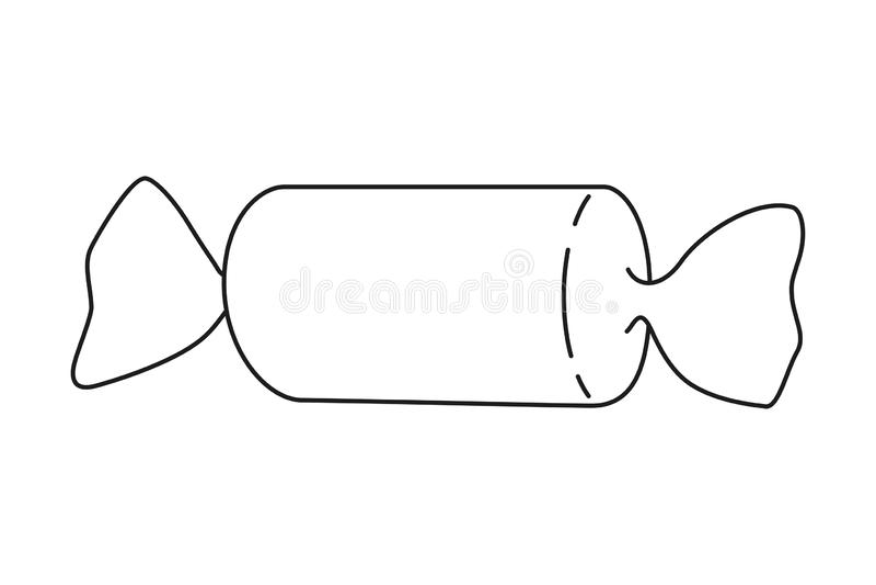 Linie Kunstschwarzweiss-Bonbon stock abbildung