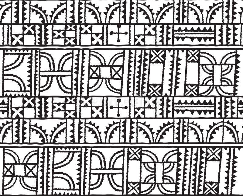 Linie, kwadraty, trójboki i łuk dekoraci projekt w wektorze, Bezszwowy deseniowy tło w konturze ilustracji