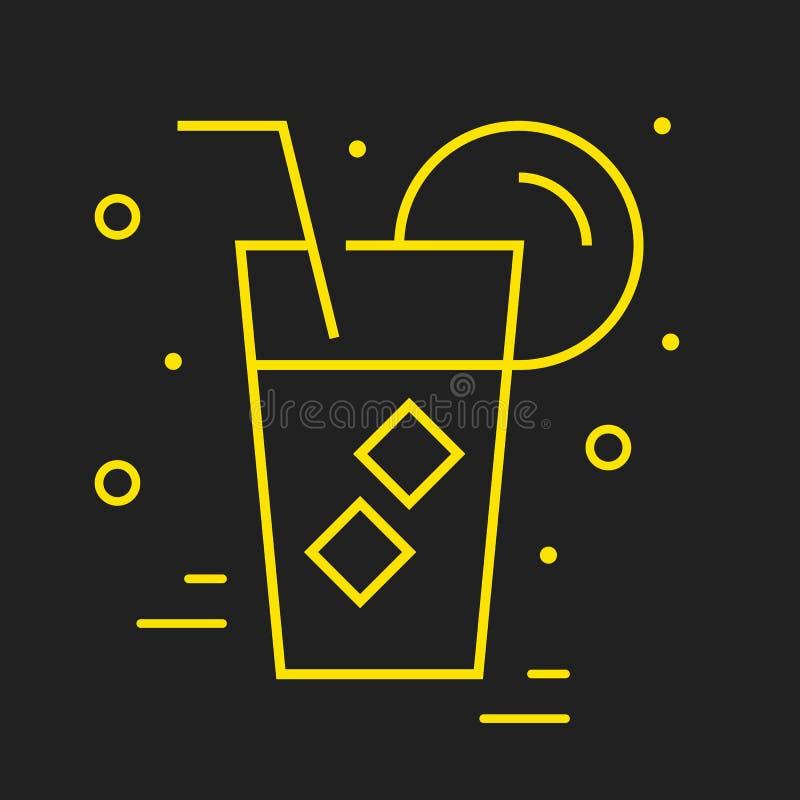 Linie Logo Food oder Getränk lizenzfreie abbildung