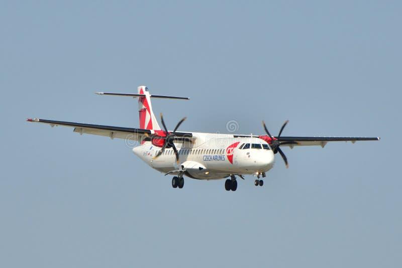 linie lotnicze czeskie fotografia stock
