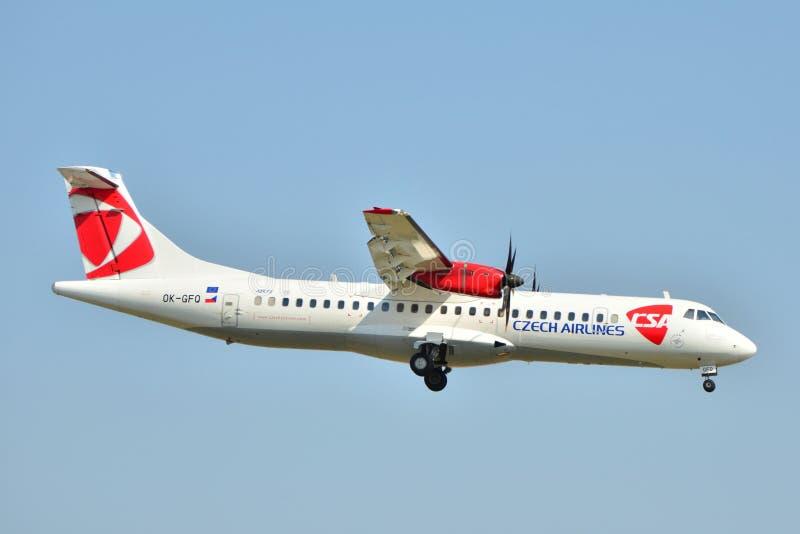 linie lotnicze czeskie obraz royalty free
