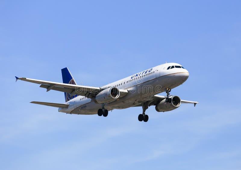 linie lotnicze jednoczyli fotografia stock
