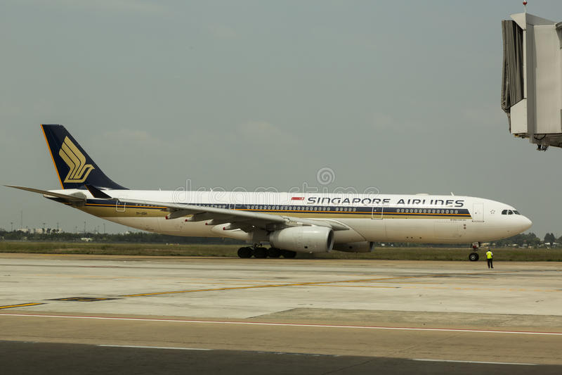 linie lotnicze Singapore obrazy royalty free