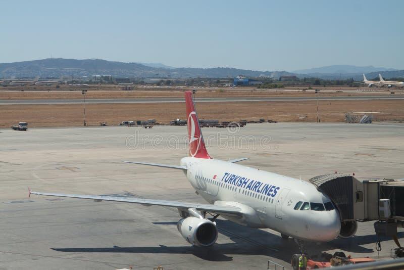 Linie Lotnicze Tureckie Zdjęcie Editorial