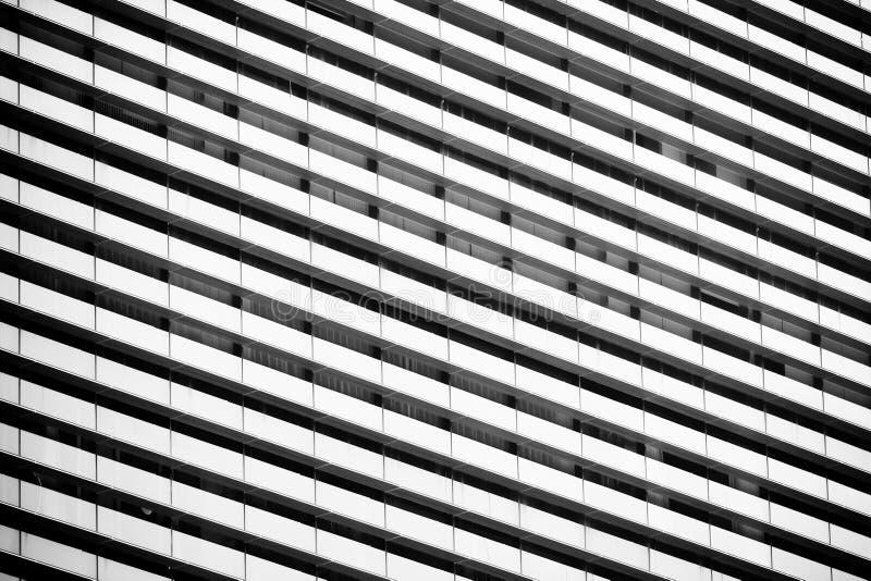 Linie Muster der Architektur geometrisch Details des Gebäudes Moderne Wand Polygonale Struktur Schwarzweiss von der Zusammenfassu stockbild