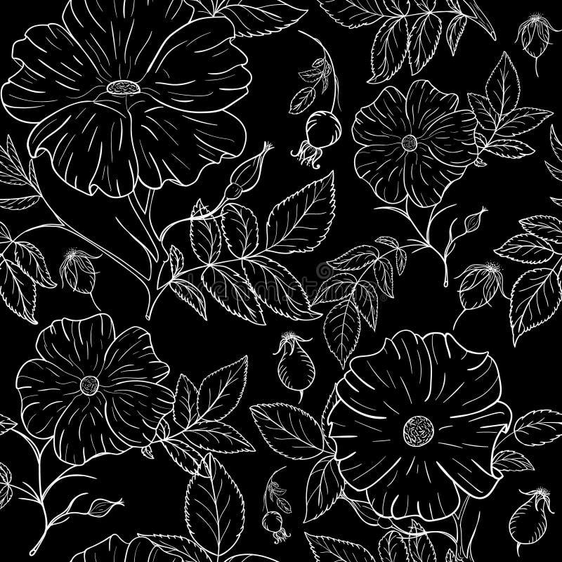 Linie Musterblumen lizenzfreie abbildung