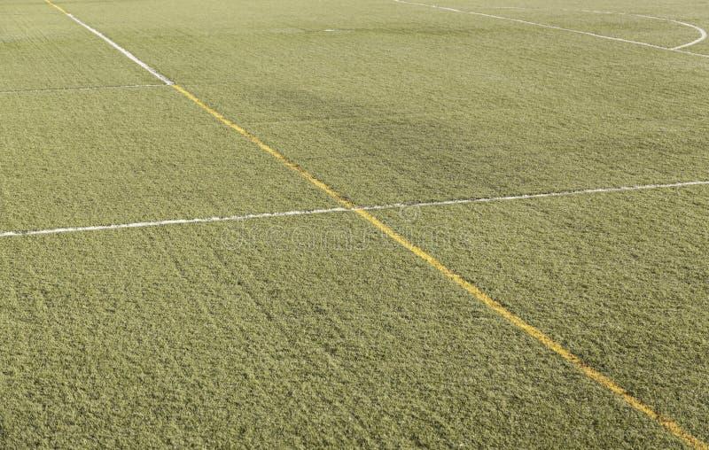 Linie na piłce nożnej, Futsal polu/ fotografia royalty free