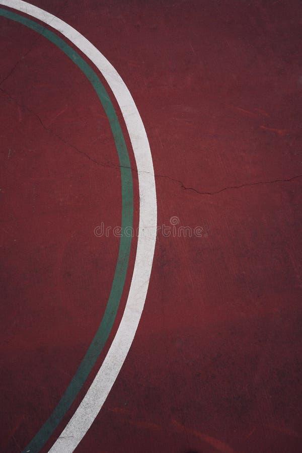 Linie na piłka nożna sporta pola ziemi zdjęcia stock