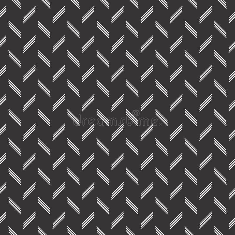 Linie nahtloses Designmuster des Kontrollmotivs lizenzfreie abbildung