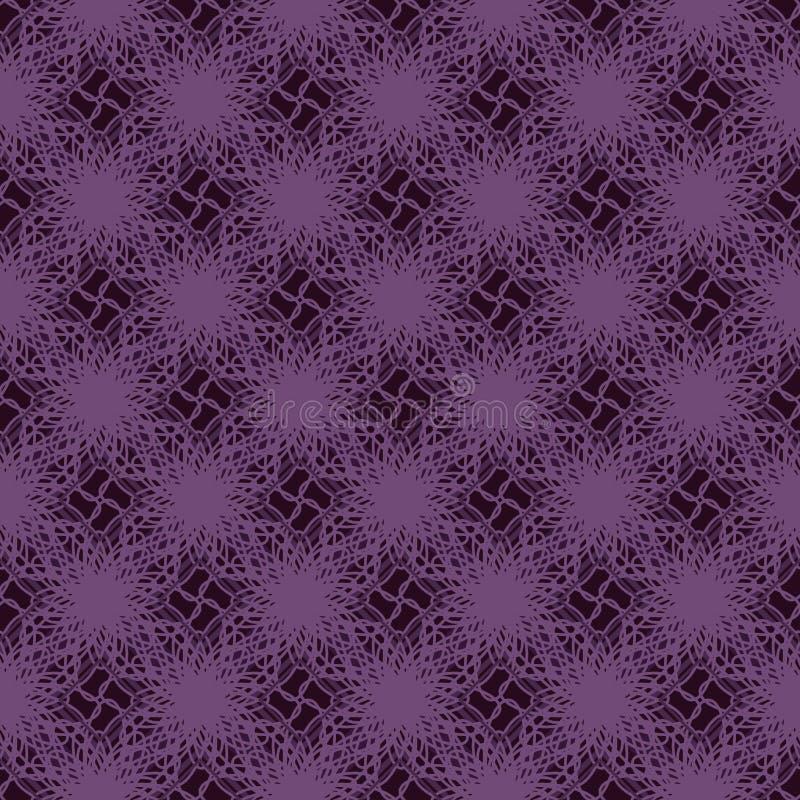 Linie nahtloses Muster der Diamantart vektor abbildung