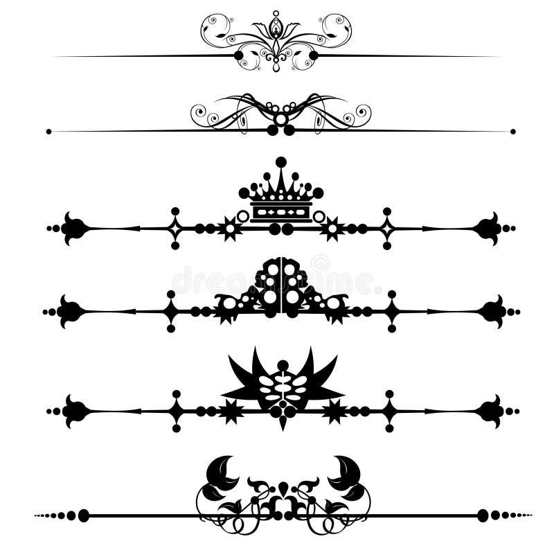linie ornamentacyjna reguła ilustracja wektor