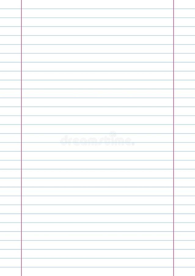 A4 Linie Papier vektor abbildung. Illustration von wissenschaftlich ...