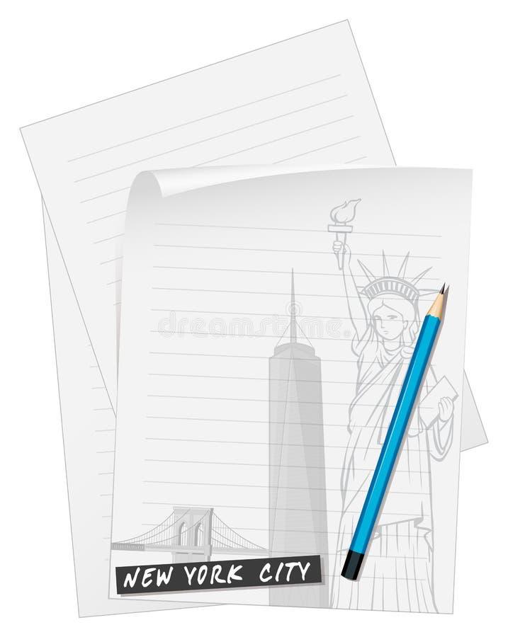 Linie Papier mit zensieren vektor abbildung. Illustration von ...