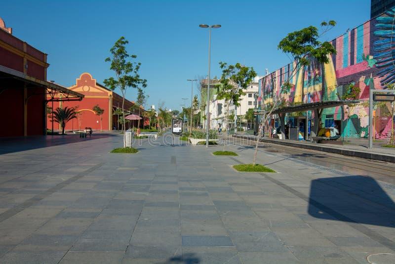 Linie 1 Piazza Parada DOS Navios VLT lizenzfreies stockfoto