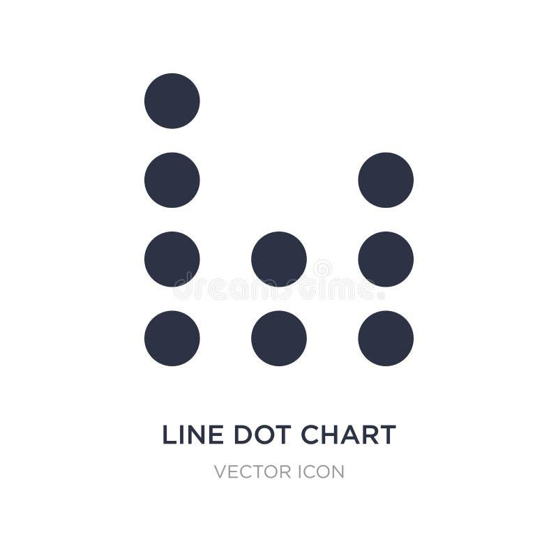 Linie Punktdiagrammikone auf weißem Hintergrund Einfache Elementillustration von UI-Konzept vektor abbildung