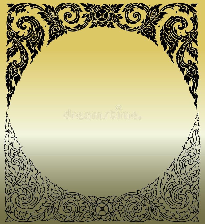 Linie thailändisches Design 023 lizenzfreie stockbilder