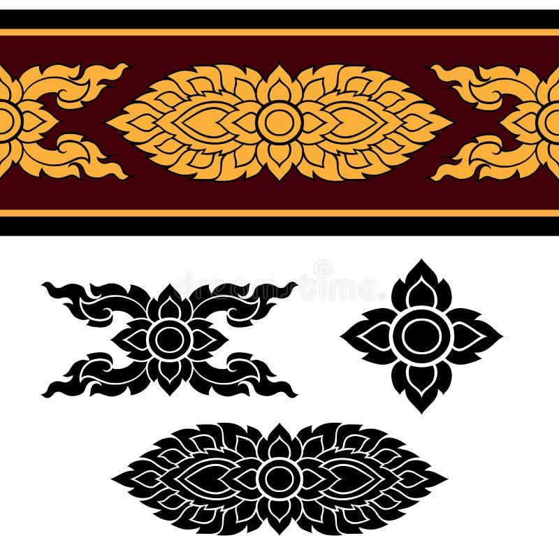 Linie thailändisches Design 024 stockbild